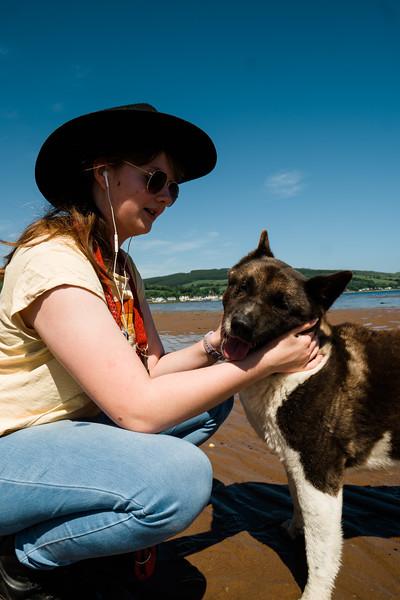 Freya and Poppy on the Beach