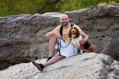 Basset Hound McKinney Falls State Park Austin, TX