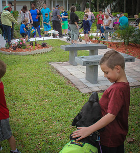 DrLight Therapy Dog, Kids Easter Egg Hunt,  Gulfside Hospice, Kids, Port Richey