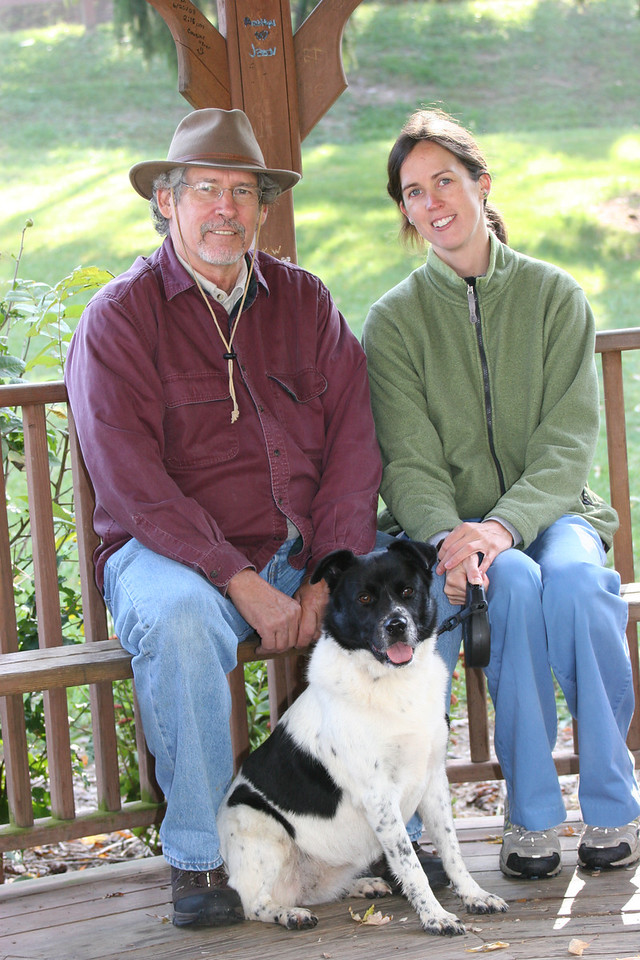 Ed, Catherine & Bessie at Lake Junaluska