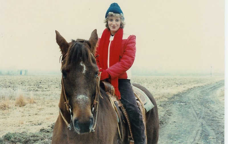 Caroline on Coco Bob at Thompson Farm 12/79
