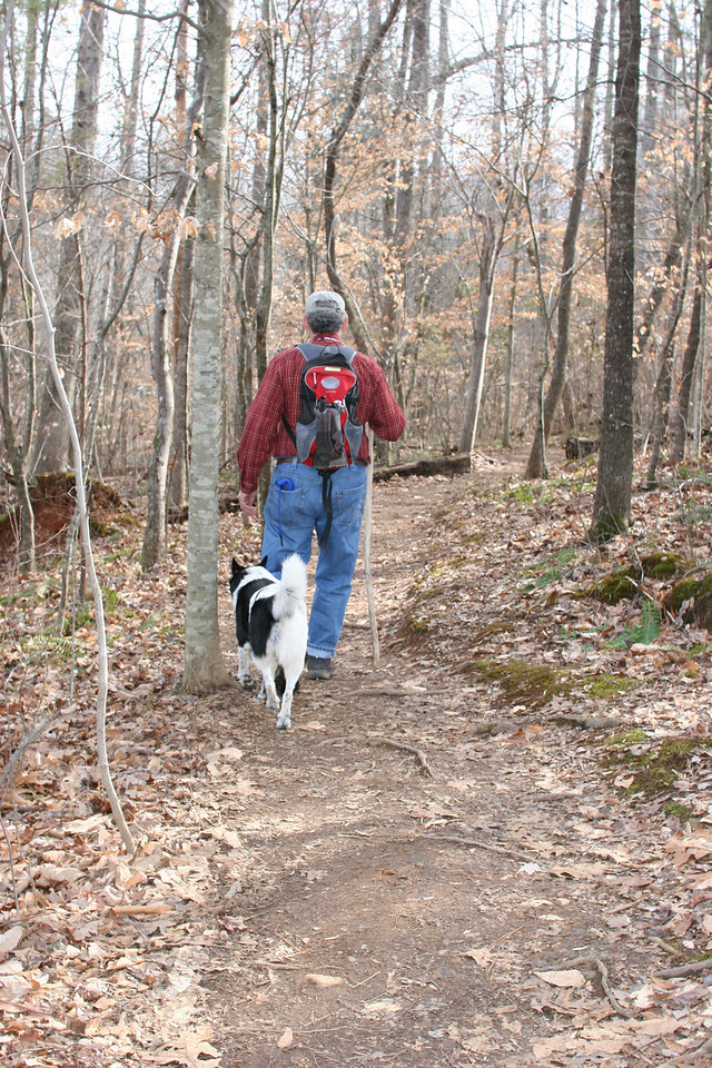 Ed and Bessie on a hike