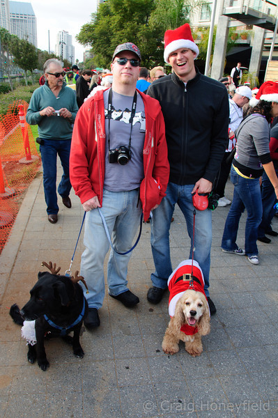 Greg, Blue, Sammy Steve getting ready for the Pet Parade adventure.