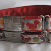 Style 2 Greyhound Tag collars, shown with Boomerang Adjustable collar tags