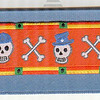 Skulls Wearing Hats on smoke blue