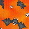 Cats and Bats on orange