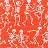 Dancing Skeletons orange (the skeletons will be upright on the collar)