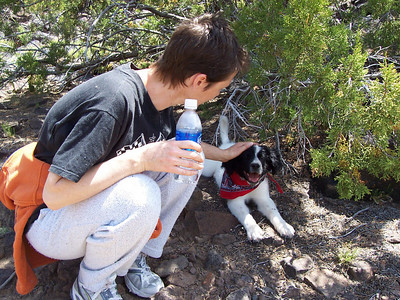 Cooling off during ahike on the mesa.