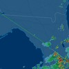 You can see out flight path ended at Ocala.