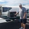 Pilot John picking up the pups at at Clanton, AL.