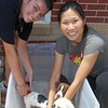 The volunteers did not mind giving them Flea Baths. :)