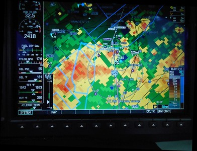 Final bunch of storms and VERY heavy rain as we approached Apopka Airport. But the WX was good at the airport! No rain, moderate temps, nice breeze.