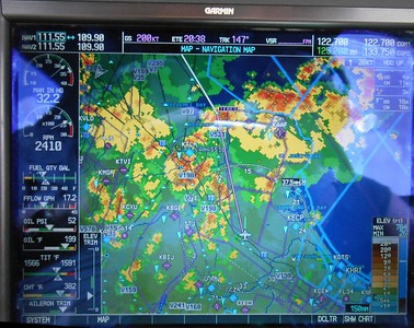 Storms, storms everywhere near Tallahassee.  Big T-storm over KTHL. Nobody could land there!