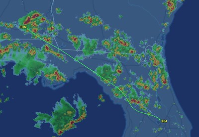 Yeah, had to doge some storms. Not too many folks flying this afternoon. I wonder why?