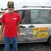 2522F, Ben and the van! :)<br /> Air + Ben + Van = Transport to Orlando!