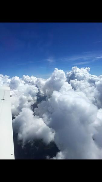 Heading up to AL at 8000 feet.