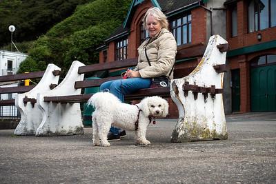 Pat and Kiri at Port Erin