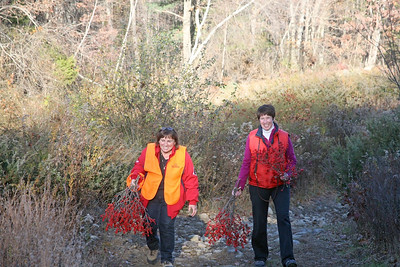 Denyse and Donna on the Trail