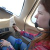 Shelly takes the flight controls