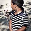A boy and his pal, Petunia