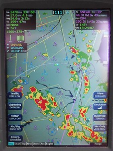 """Had to navigate around what we pilots call """"the shit"""". There was hardly anyone else flying,  I guess they were afraid of """"Alberto""""!"""