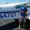 Pilot Jonny and his plane.