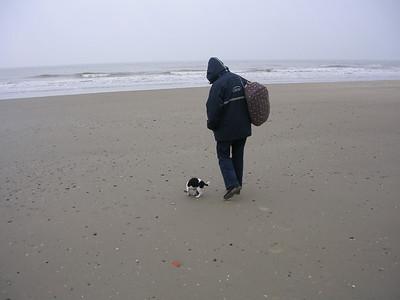 Met Jefke op het strand van Blankenberge.