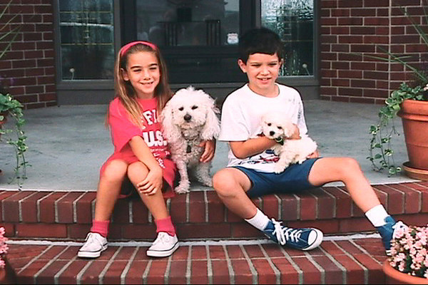 Asti and baby Micki on her first day home, August 20, 1993.  Oh and that's Jennifer and cousin Jeffrey Roy.