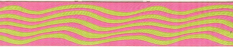 Waves, pink & lime