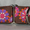 "Retro Daisies Brown and purple 1 1/2""wide"