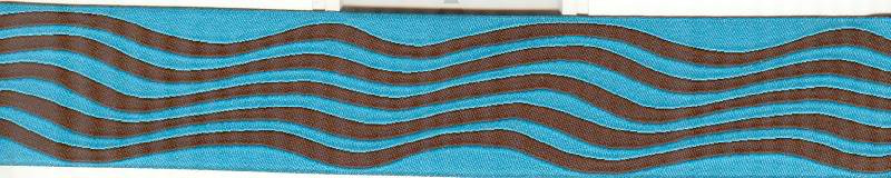 Waves, turquoise and brown