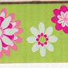 Retro Daisies, lime, limited