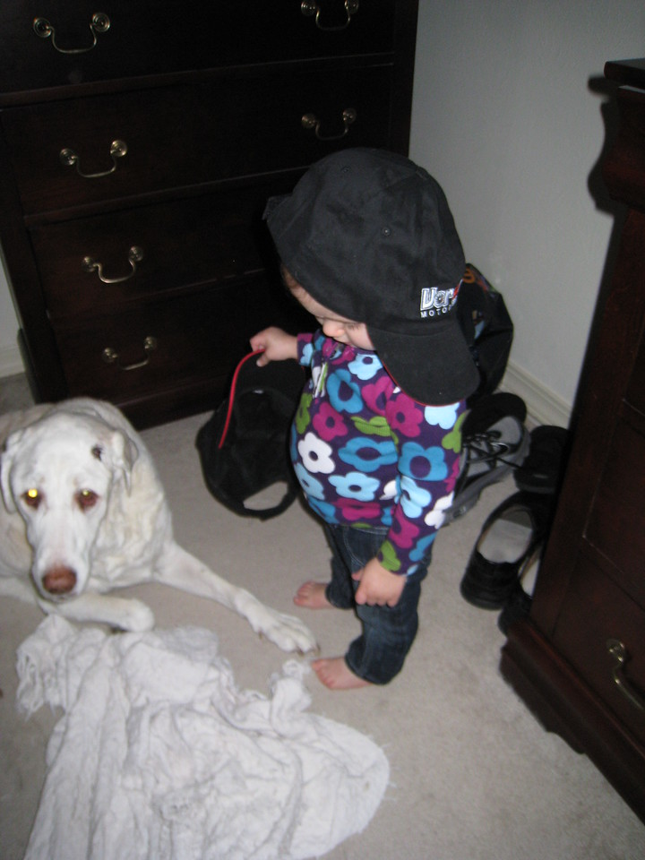 Laney wants to put a hat on Murphy - December 3, 2011