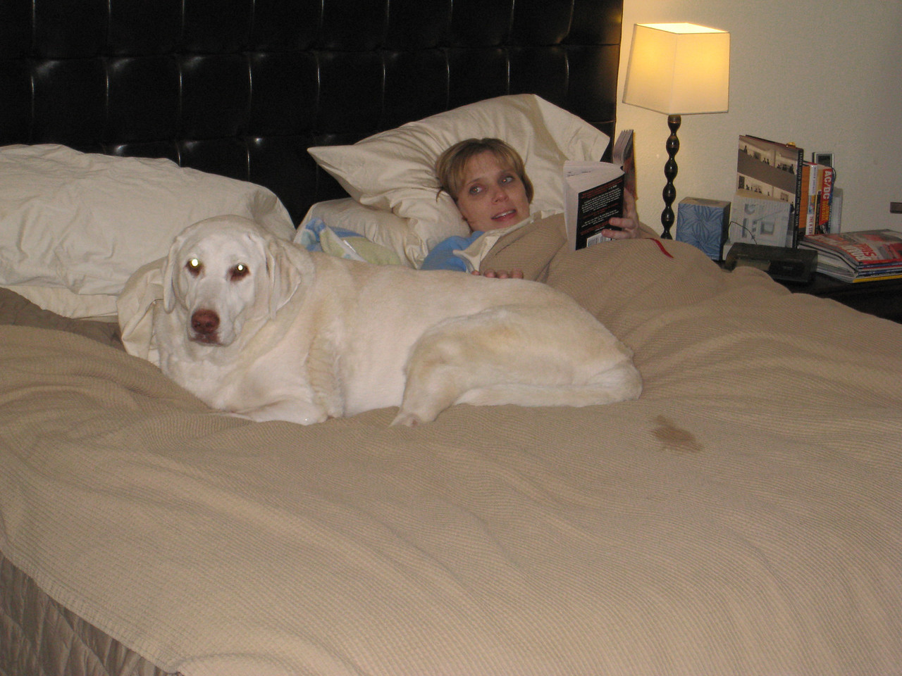 Murphy and Deena in bed - January 9, 2010