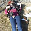 Savannah smothered in Pups!