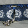 "Celestial Blue and silver 1"" style #1 greyhound tag collar shown (LIMITED)"