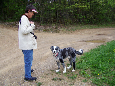 a friend and her dog, May 1, 2008