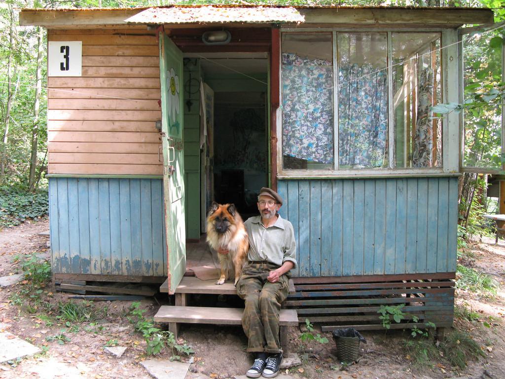 At the porch