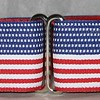 "Patriotic on red, 1 1/2"" wide"
