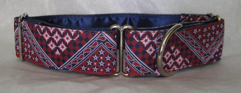 "Patriotic Bandana, 1 1/2"" wide (this a a jacquard ribbon)"