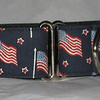 "Flags and Stars (fabric) 1 1/2"" martingale shown, also available in 1"" and 2"""