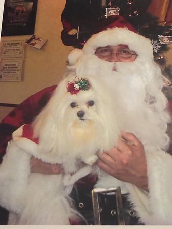 Anderson resident Carol Bradley took Deliah to visit Santa.  <br /> <br /> Photographer's Name: Carol Bradley<br /> Photographer's City and State: Anderson, Ind.