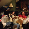 """My son and his """"lap dog"""" Mavis.<br /> <br /> Photographer's Name: Paula  Hines-Spradlin<br /> Photographer's City and State: Anderson, Ind."""