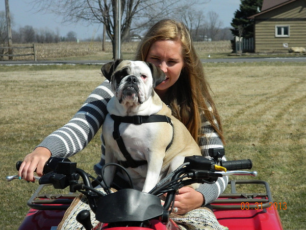 Ashlee Pritchard and Toots going for a ride<br /> <br /> Photographer's Name: Brian Zeigler<br /> Photographer's City and State: Pendleton, Ind.
