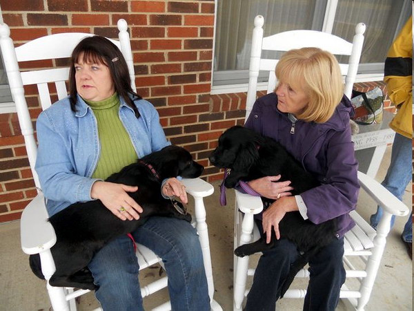 Rhoda (left)  has save over 300 dogs this year with this flight of four to PA.