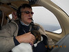 """Since """"George"""" was doing the flying, she was not a problem.  Drew held her tight on his lap for landing at KHEF."""