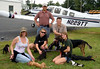 The gang at the relay point: Maryland Airport. Rick brought the 8 dogs from NC in his Bonaza (N229TT). I brought them the rest of the way to PA in N2522F.
