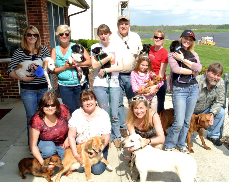 """8 tails waggin'  from Roxboro NC to Blue Bell Pa! Pilot Mike Young and his helpers, along with our amazing foster Moms, Annette Rogers, Brittney Conner, Sharon Slaughter, & Patti Walker Dickerson,and our partner rescue, Almost Home open up a new horizon for these precious babies. Happy Tails, Tango, Cash, Sammi, Happy, Clover, Claire, & Hogan! ♥ from your friends in NC"