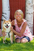 Michi Loves his new Mom Valerie and can't wait go play with his new sister Shorin Ryu a cute little red shiba.