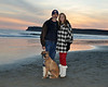 Tom, Christy and Roxie at Coranado Dog Beach, Winter of 2009